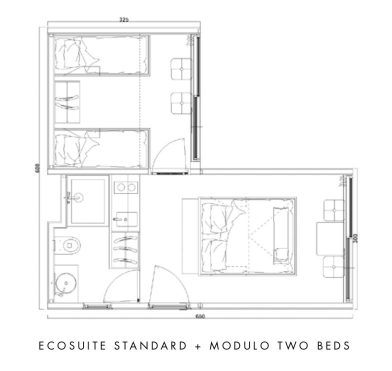 EcoSuite 2 Beds by Argenti e Biolam Italia